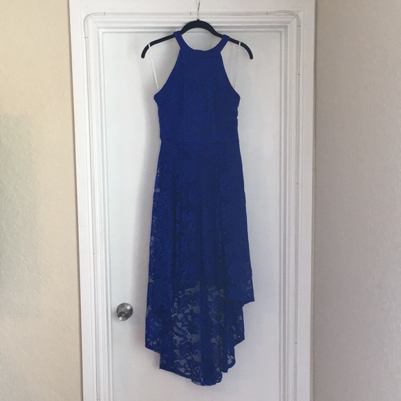 Blue high low semi formal dresses all
